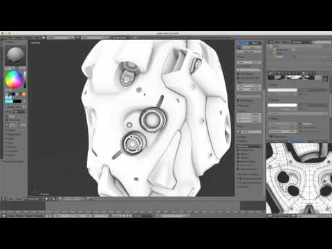 Shading in Blender: Baking an Edge Map Using Ambient Occlusion