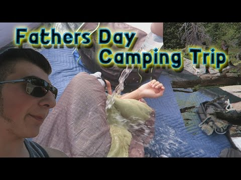Water in his sleeping bag! [Camping Vlog]