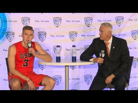 2016 Pac-12 Men's Basketball Media Day: Oregon State's Wayne and Tres Tinkle