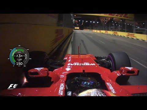 Sebastian Vettel's Pole Lap | 2017 Singapore Grand Prix