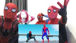 SPIDER-MAN BATTLE! (FULL FIGHT) | FFH vs SPIDER-VERSE vs IRON SPIDER vs RAIMI & MORE! REACTION