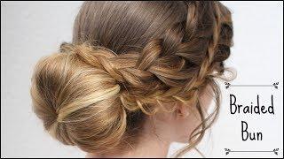 Romantic Braided Bun Updo | Christmas Hairstyles | Braidsandstyles12