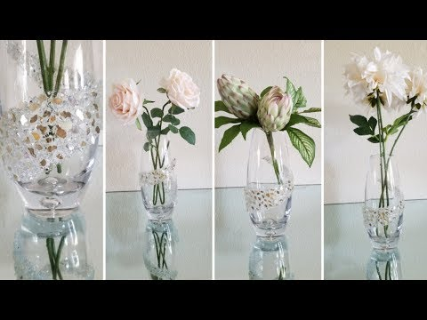 LUXURIOUS AND GLAM DECORATIVE VASE | HOME DECOR IDEAS! | QUICK AND EASY DIY | HIGH -END DECOR 2019