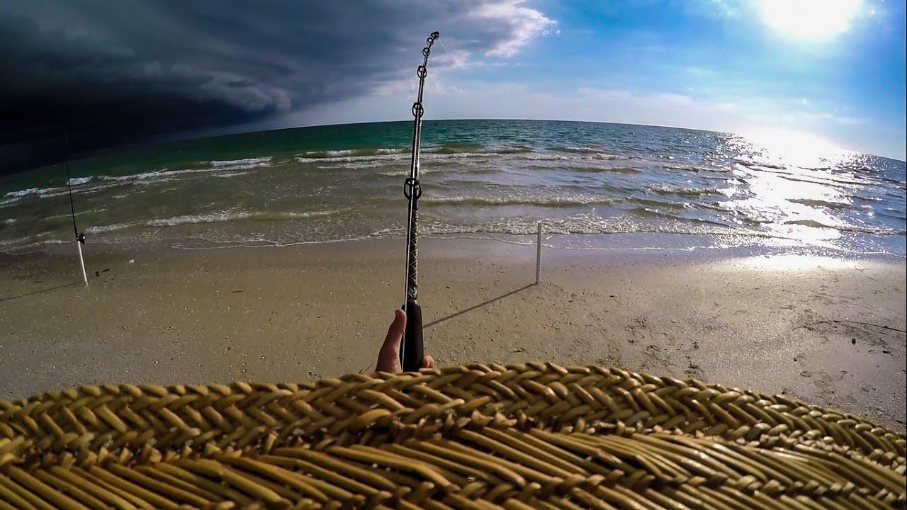 Tiger shark fishing before the storm funnydog tv for Shark fishing nj