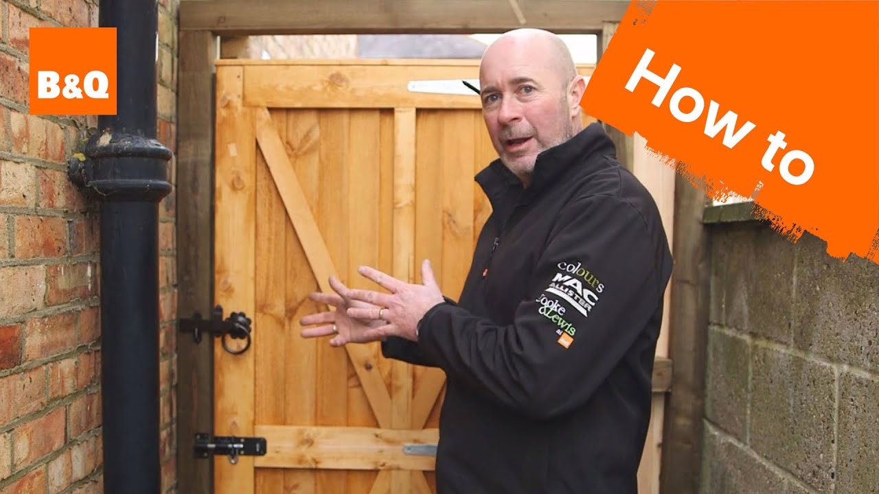 How to fit a garden gate youtube solutioingenieria