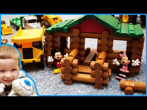 Lincoln Logs Construction Site With Construction Vehicles