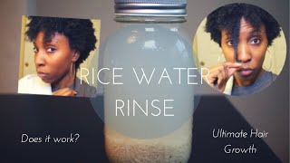 Rice Water Rinse: For Ultimate Hair Growth 4B/4C Hair