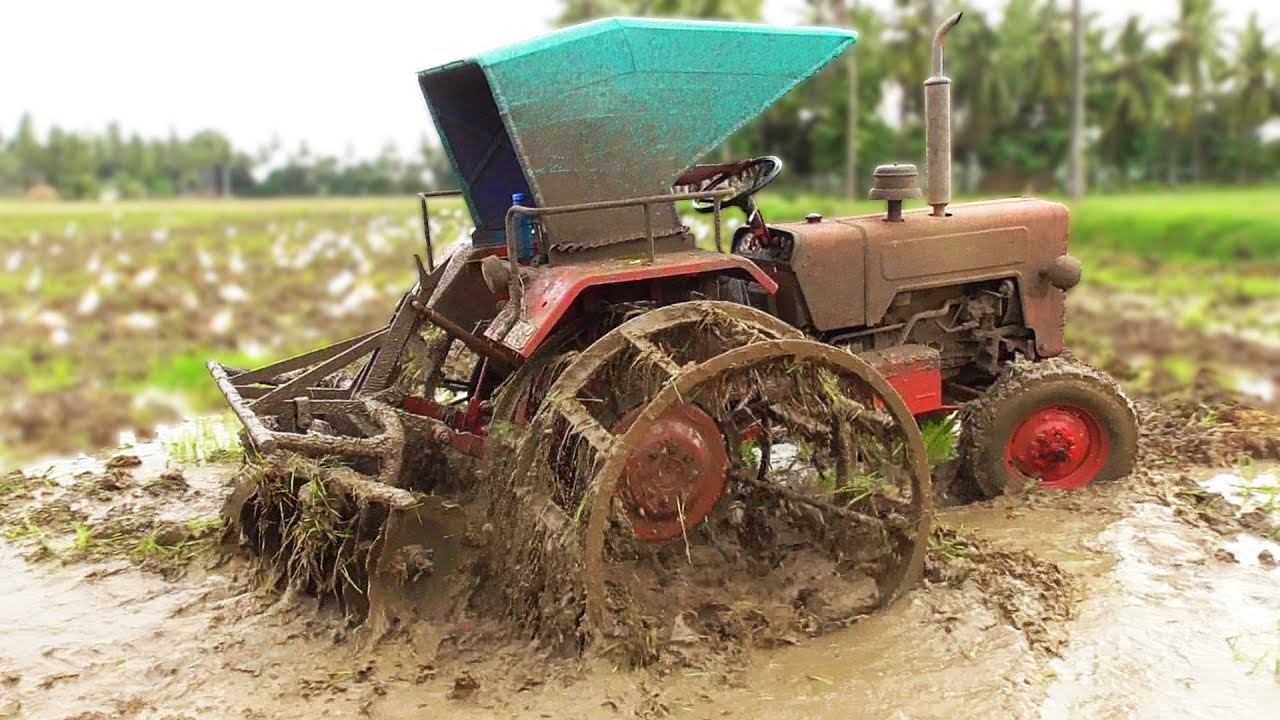 Mahindra Working With Disc Plough + Full Cage Wheels | Tractor Videos | SWAMI Tractors