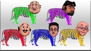 Motu Patlu Transform Into Tiger l Tiger Bites Motu Patlu Cartoon Hindi