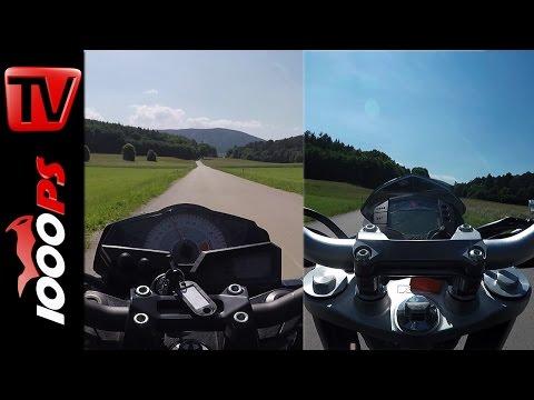 KTM 390 Duke vs. Kawasaki Z300 Drag Race Foto