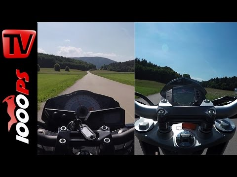 KTM 390 Duke vs. Kawasaki Z300 Drag Race