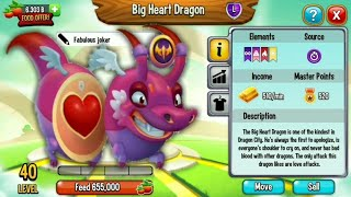 Dragon city : Big Heart Dragon Review [New VIP Legendary Dragon]