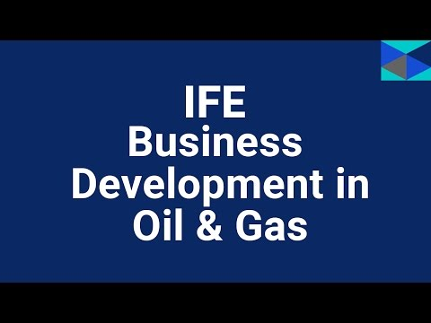 IFE Energy Training - Business Development in the Oil & Gas Sector Course