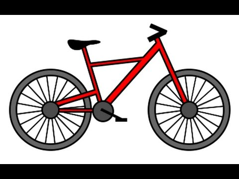 how to draw bicycle step by step for kids