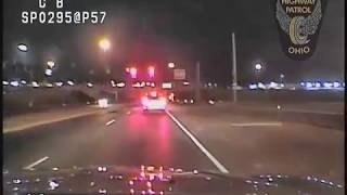 High Speed Ohio State Patrol Dash Cam Pursuit 100+mph - 12/09/2016