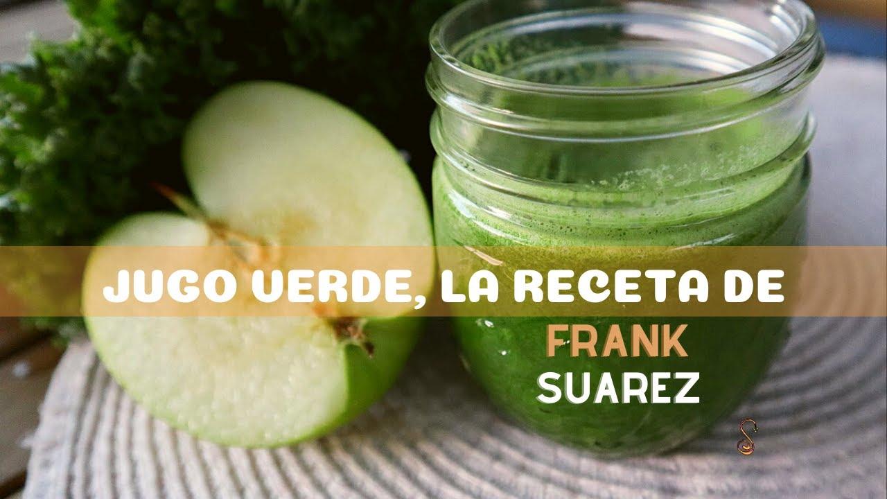 Jugo verde probando la receta de Frank Suarez