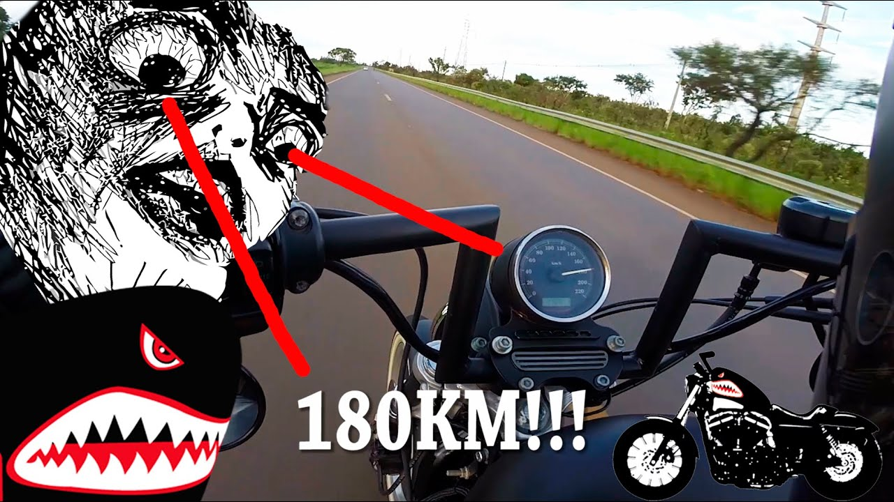 Top Speed Sportster 883 r Harley Davidson 180km - Enxaqueca883 ...
