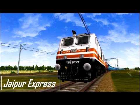 Jaipur Express Part 2 in  MSTS Open Rails by Sumit Mehrotra