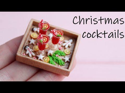 Christmas Cocktails🍷 Polymer Clay. UV Epoxy. Tutorial. DIY. Рождественские коктейли и УФ смола.