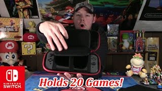 nintendo switch travel case holds 20 games review