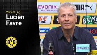 Vorstellung von Lucien Favre |BVB-Pressekonferenz mit dem neuen Cheftrainer