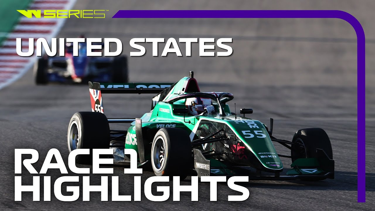 W Series Race 1 Highlights  2021 United States Grand Prix