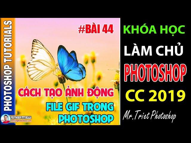 Bài 44: Cách Tạo Ảnh Động File Gif Trong Photoshop 🔴 Làm Chủ Photoshop CC 2019
