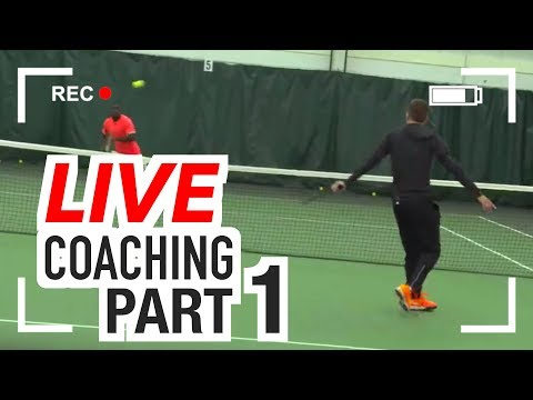 LIVE On-Court Tennis Coaching: TECHNIQUE Q&A (Part 1)