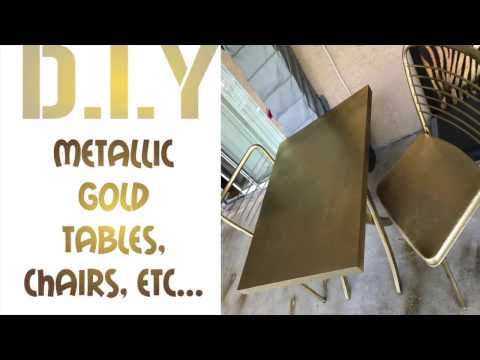 DIY: Metalli Gold Furniture