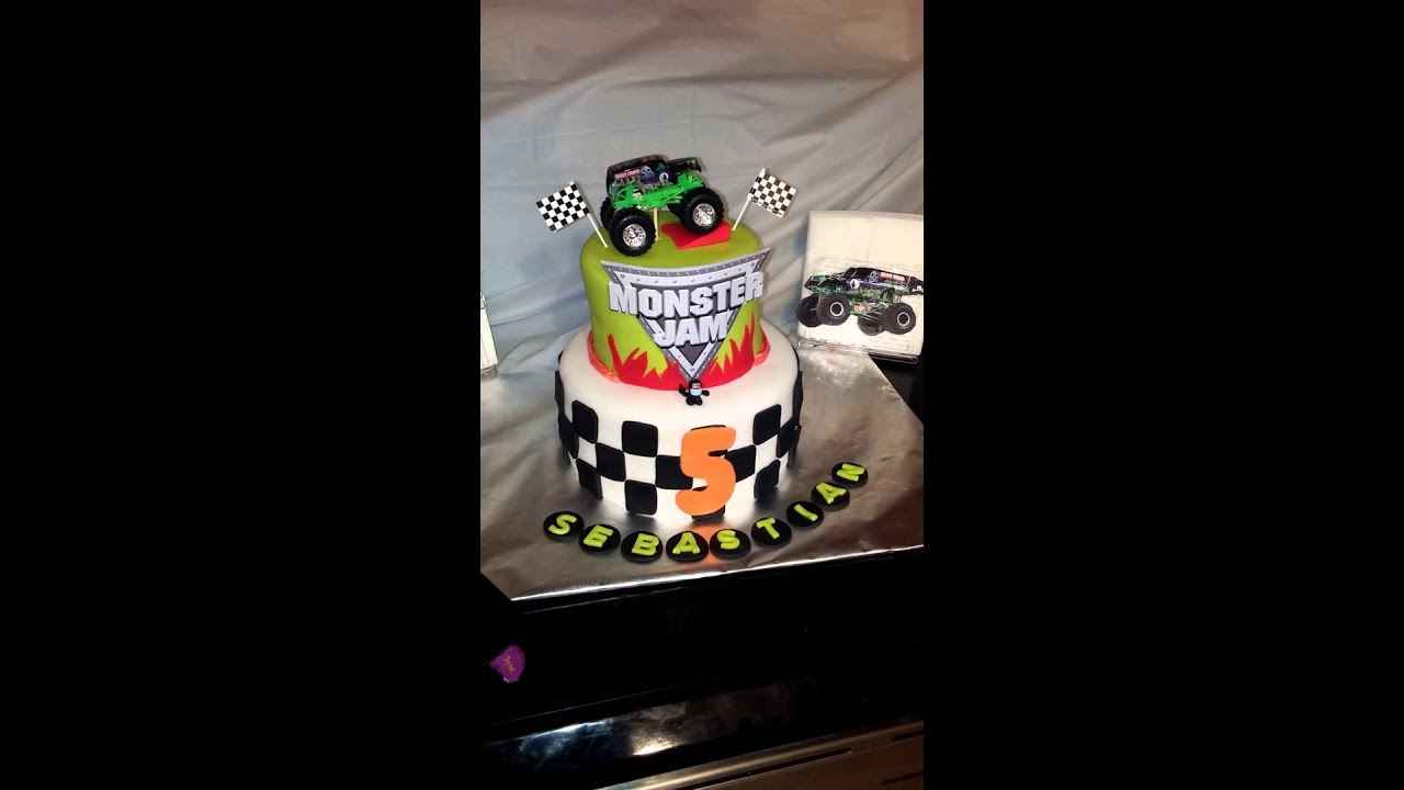 Image Result For Monster Jam Birthday Cake