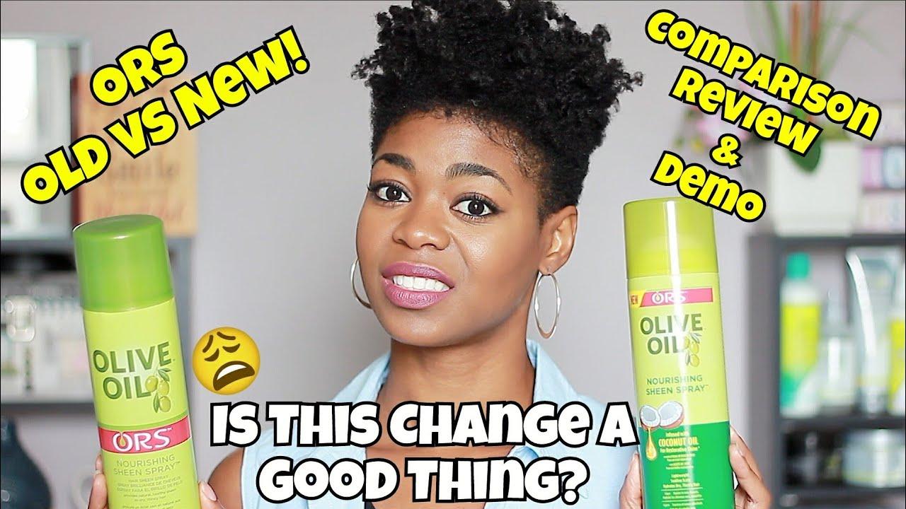 New Ors Nourishing Sheen Spray W Coconut Oil Old Vs New Formula Naturalme4c 4c Hair Youtube