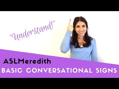 Learn American Sign Language: Beginner conversational words and phrases in ASL