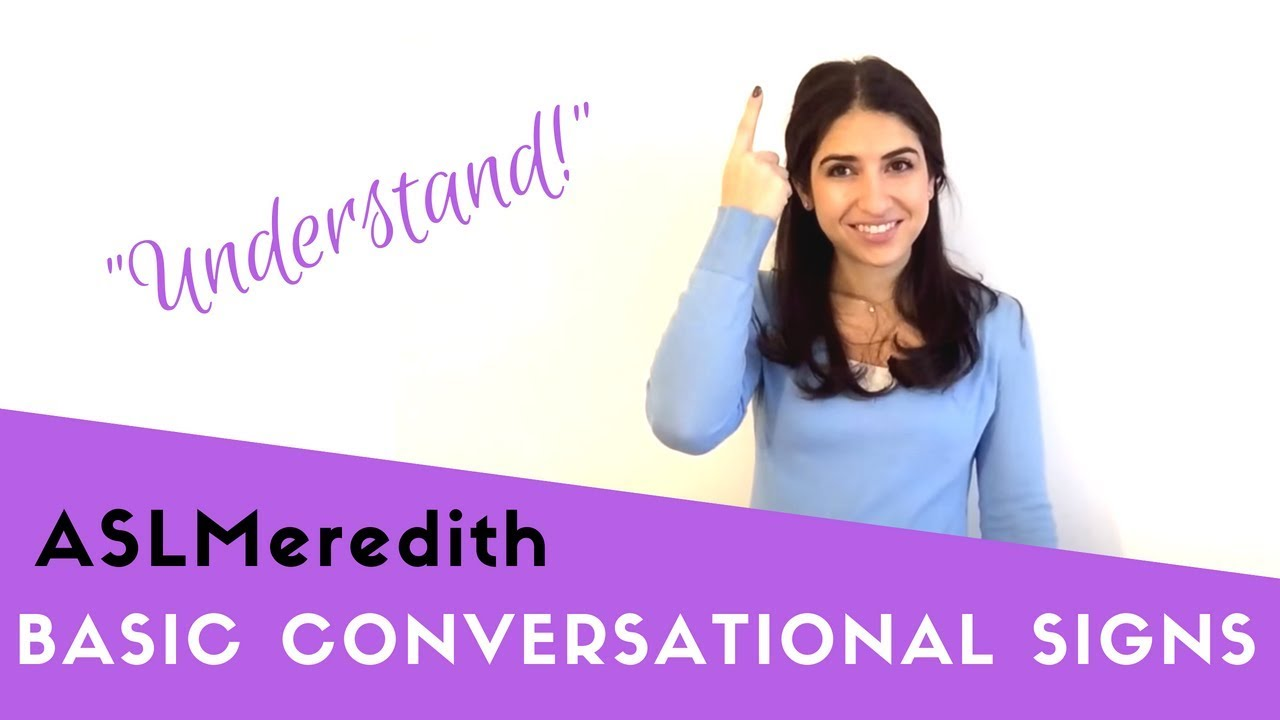 Learn American Sign Language: Beginner conversational words and ...