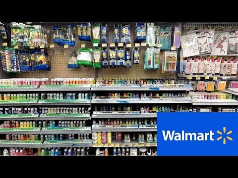 WALMART ARTS AND CRAFTS SECTION - ART PAINT PAINTING CRAFT ITEMS SHOPPING (STORE WALK THROUGH)