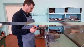 Резание металла слесарной ножовкой