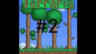Прохождение игры Terraria на андроид 2 серия (Убиваем пчёл)