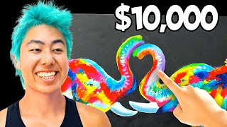 Best Finger Painting Wins $10,000 Challenge! | ZHC Crafts