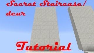 [Minecraft] - Secret Staircase Entrance - Tutorial