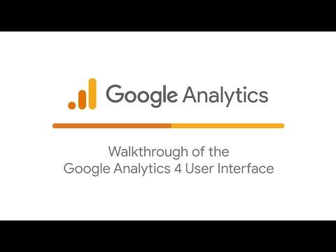 Walkthrough of the Google Analytics 4 User Interface
