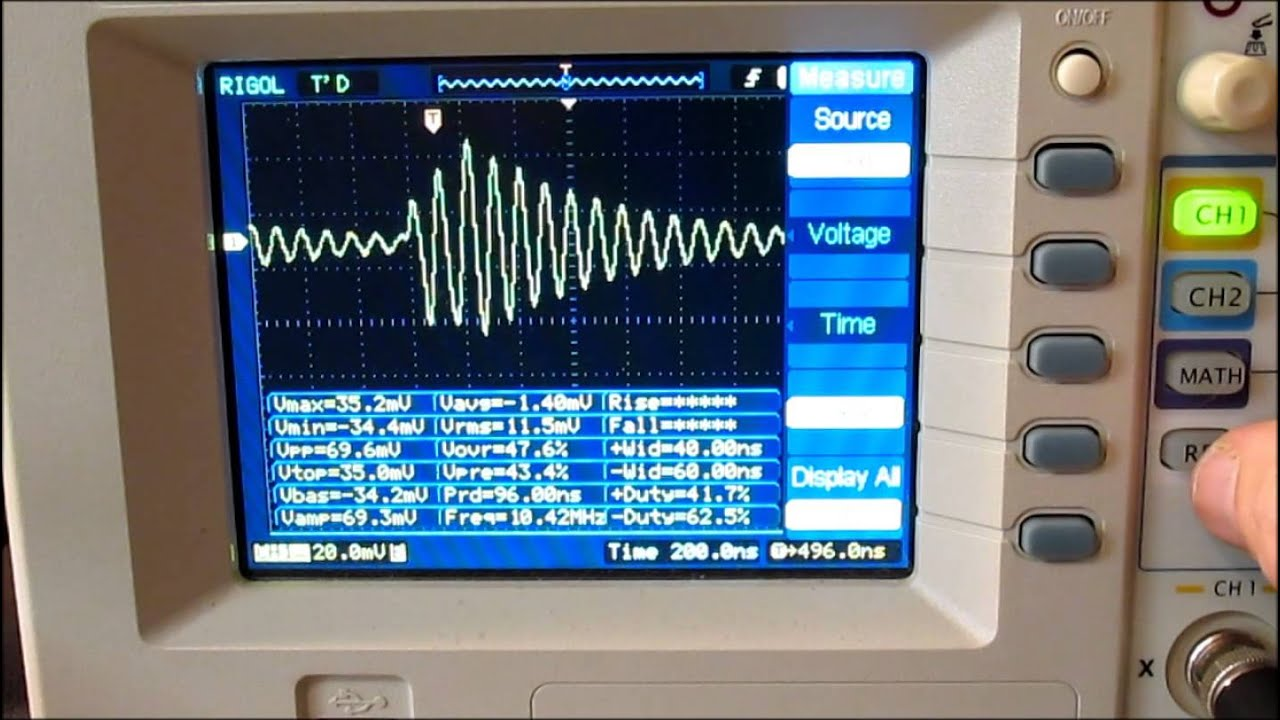 Oscilloscope Pulse Measurement : Measuring inductance with a pulse and oscilloscope youtube