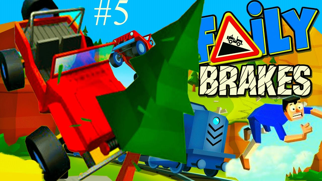 Мультик игра для детей герой на МАШИНЕ без тормозов #5 Faily Brakes Cartoon game for children .