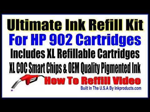 Ink Refill Kit For HP 902 cartridges See How to Video