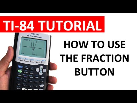 Using the fraction button on a ti 84 series calculator youtube ccuart Gallery