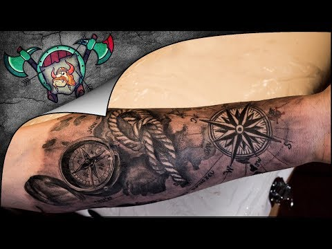 Marine Arm Sleeve Tattoo Time Lapse