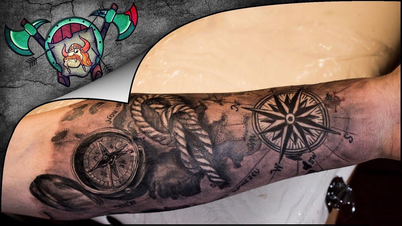 980023006e5b9 Marine Arm Sleeve Tattoo Time Lapse - YouTube