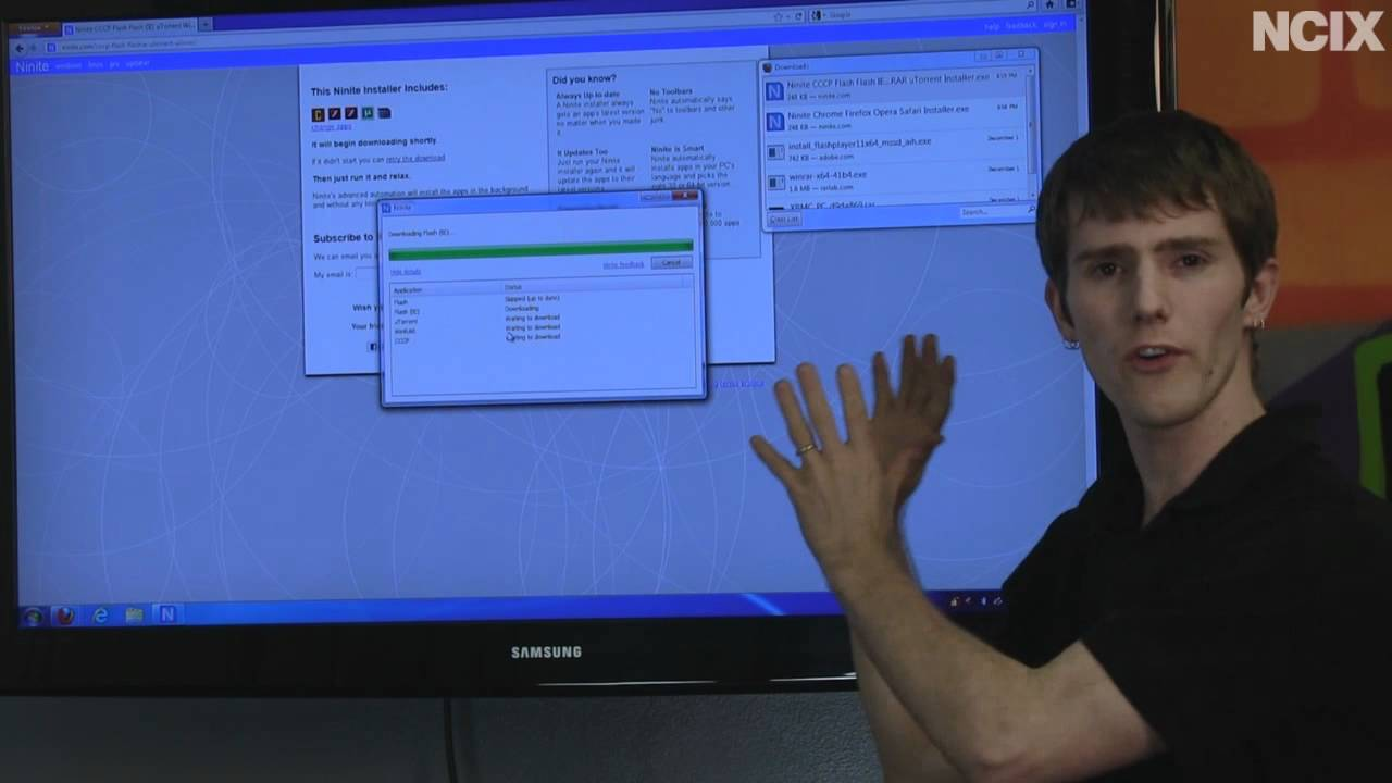 Ninite com - Easily Load the Most Popular Applications on your New PC NCIX  Tech Tips