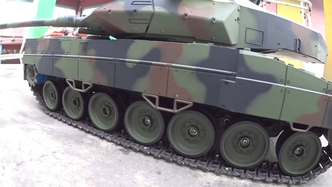 Heng long 1 16 scale leopard 2a6 tank road wheel suspension test