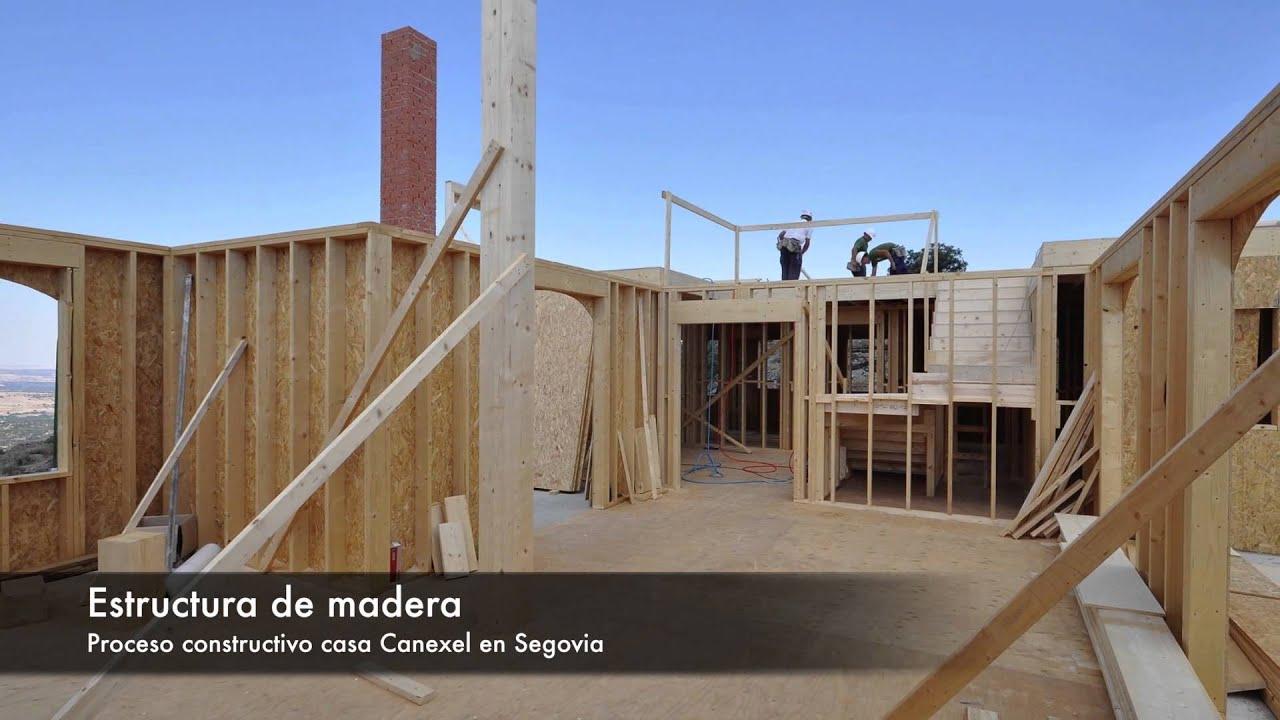 Casas de estructura de madera elegant tecnologa en - Casas estructura de madera ...