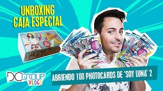 DISNEY UNBOXING - APERTURA CAJA ESPECIAL 100 PHOTOCARDS SOY LUNA 2 | DCGroup Vlogs
