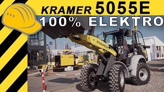 KRAMER 5055e Elektro Radlader Test - Wie gut ist der Elektroradlader wirklich? - Bauforum24 [4K]